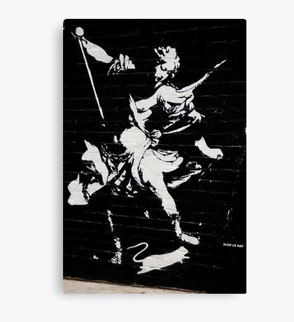Graffiti by Blek Le Rat Canvas Print