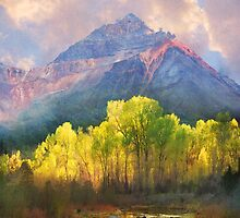 at the foot of the mountains a tranquil stream by R Christopher  Vest
