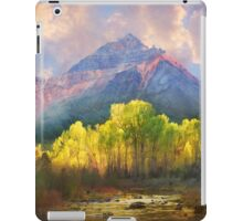 at the foot of the mountains a tranquil stream iPad Case/Skin