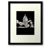 Texas State Capitol Building - Night View - Austin Framed Print