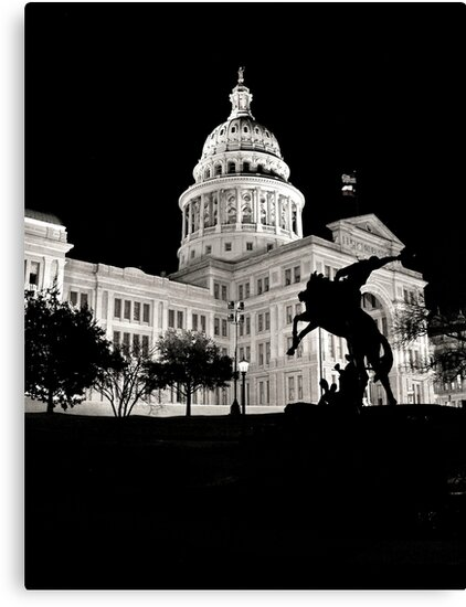 Texas State Capitol Building - Night View - Austin by Jack McCabe