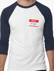Hi, my name is Ninja Men's Baseball ¾ T-Shirt