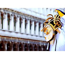 Venetian Mask  in Piazza San Marco Photographic Print