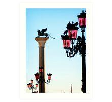 Venice Lamps in Piazza San Marco Art Print