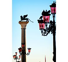 Venice Lamps in Piazza San Marco Photographic Print
