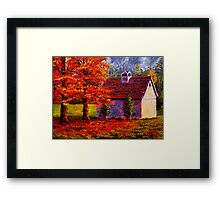 Connecticut Autumn Shed Framed Print