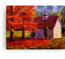 Connecticut Autumn Shed Canvas Print