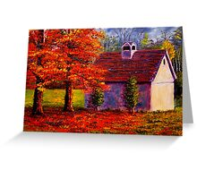 Connecticut Autumn Shed Greeting Card