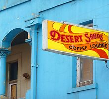 Retro Coffee Lounge Sign by HappyMoonlight