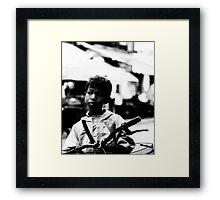 Street Kid Siem Reap Framed Print