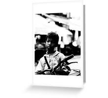 Street Kid Siem Reap Greeting Card