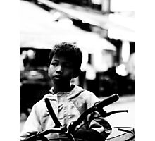 Street Kid Siem Reap Photographic Print