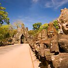 Angkor Thom South Gate by Lesley Williamson