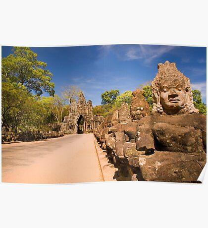 Angkor Thom South Gate Poster