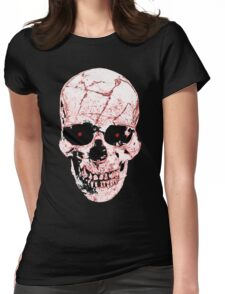 Evil Skull Womens Fitted T-Shirt