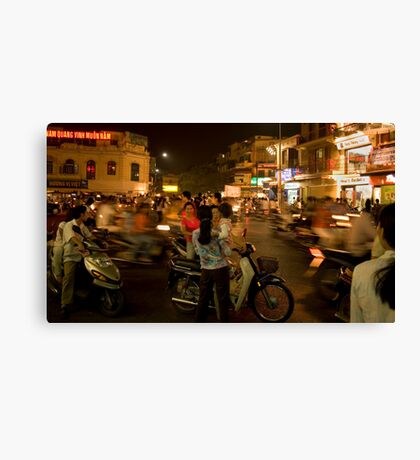Hanoi at Night Canvas Print