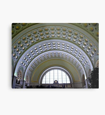 Washington DC - Union Station - Series - Vaulted Ceilings  *framed print sold Metal Print