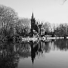 reflections on river, Brugge by daniwillis