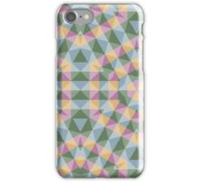 Trendy abstract square and triangle multicolored pattern iPhone Case/Skin