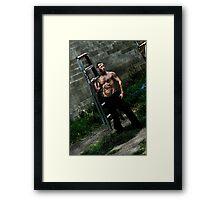 Damien With Ladder 2 Framed Print
