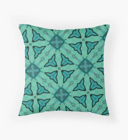 Blue modern nice pattern Throw Pillow