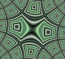 Green abstract modern trendy cool pattern by ZierNor