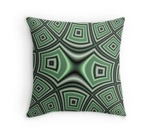 Green abstract modern trendy cool pattern Throw Pillow