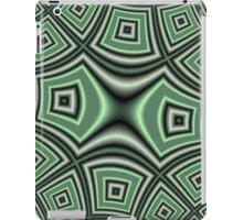 Green abstract modern trendy cool pattern iPad Case/Skin