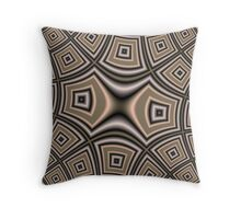 Brown abstract pattern Throw Pillow