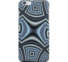 Blue trendy pattern iPhone Case/Skin