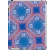 glass pattern red blue iPad Case/Skin