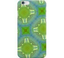 glass pattern green blue iPhone Case/Skin