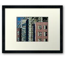 Reflections on Buildings at Harbourfront, Toronto Framed Print