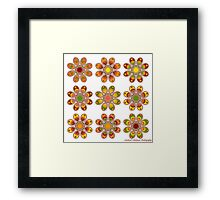 Citrus Foot Flowers Framed Print