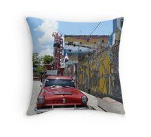Chevy, Callejon de Hamel, Havana, Cuba Throw Pillow