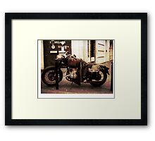 Motorcycle in Texico Framed Print