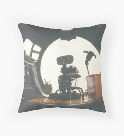 In the Bombardier's Seat  Throw Pillow