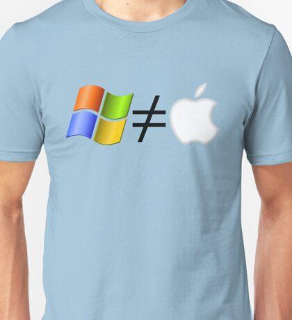 PC not equal to Mac Unisex T-Shirt