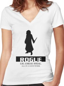 Rogue Women's Fitted V-Neck T-Shirt