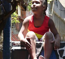 Rumba Girl at Callejon de Hamel, Havana, Cuba by apricotargante
