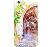 Agropoli: view alley iPhone Case/Skin