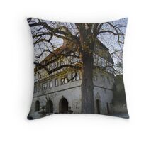 tree at the old town hall  Throw Pillow