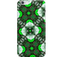 Green abstract pattern iPhone Case/Skin