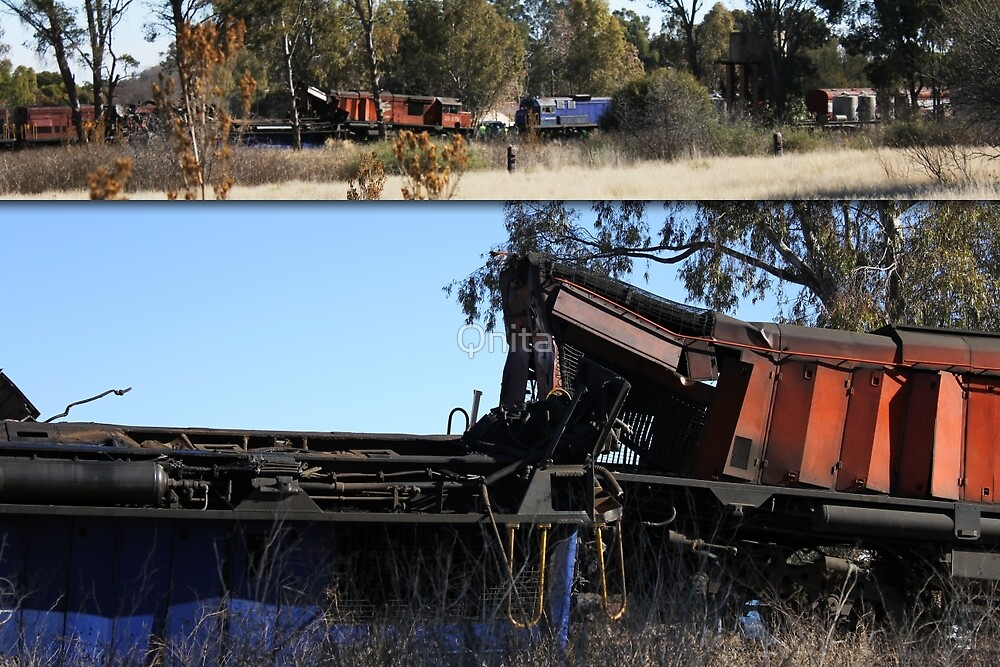 Train Accident... 10 August 2011, Petrusburg, Free state, South Africa by Qnita