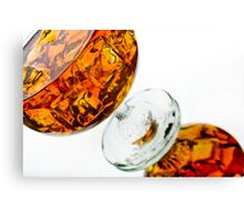 Brandy Glassware shot Canvas Print