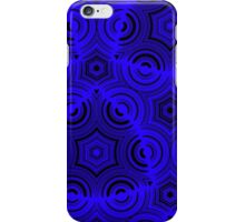 Ugly blue abstract pattern iPhone Case/Skin