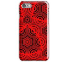 Ugly abstract red pattern iPhone Case/Skin