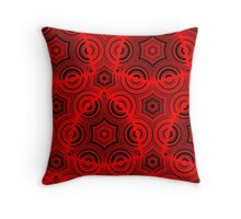Ugly abstract red pattern Throw Pillow