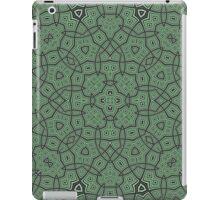 Green abstract modern pattern iPad Case/Skin