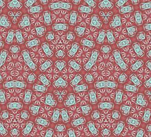 Red abstract trendy pattern by ZierNor